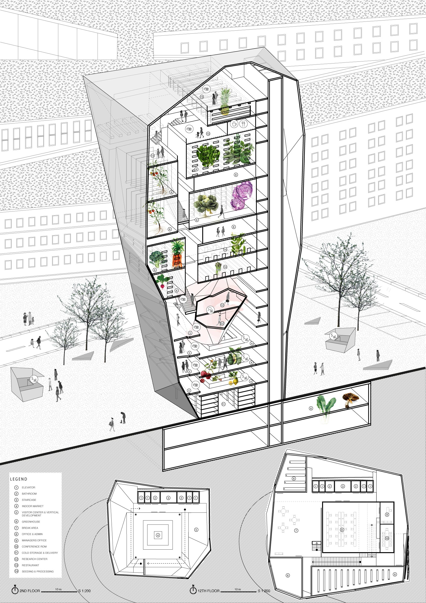 vertical farm section